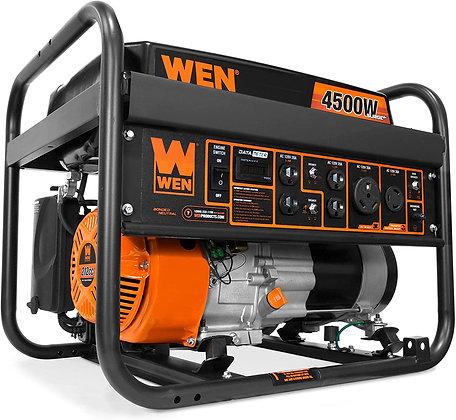 WEN 6000-Watt RV-Ready Portable Generator with Wheel Kit,