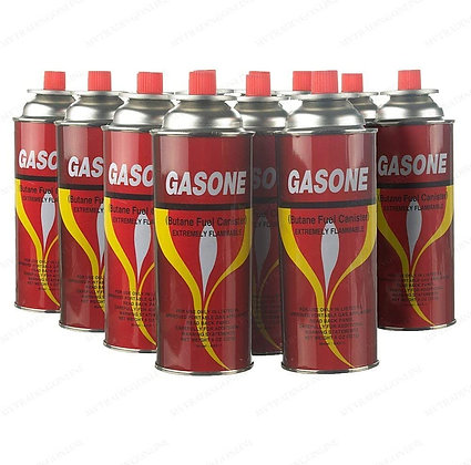 12 Butane Fuel GasOne Canisters for Portable Camping Stoves