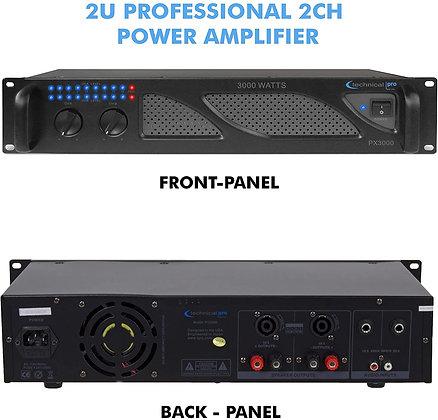 Technical Pro 3000 Watts 2-Channel DJ Power Amplifier