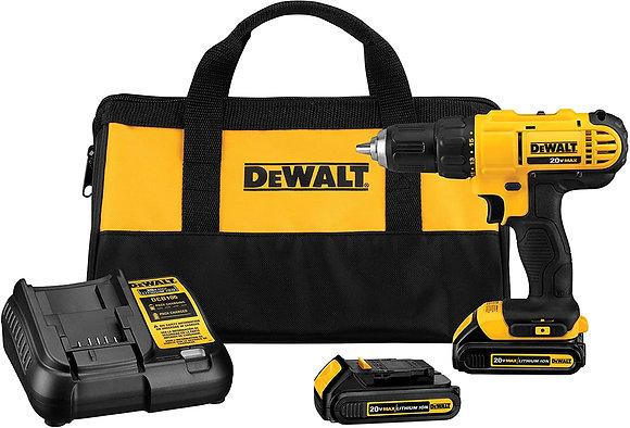 DEWALT 20V Max Cordless Drill / Driver Kit 1/2-Inch