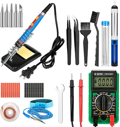 Soldering Iron Ohm Meter Kit - 43 in 1 -  Adjustable Temperature