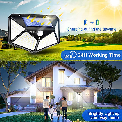 Solar Lights Outdoor 4 Pack - 3 Modes - Motion Sensor