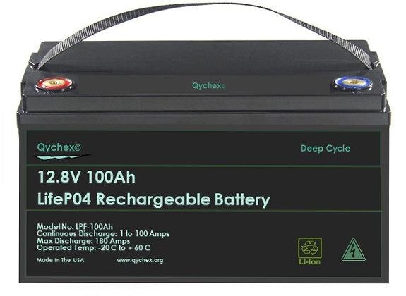 Qychex 12 Volt 100 Ah LifeP04 Lithium Battery