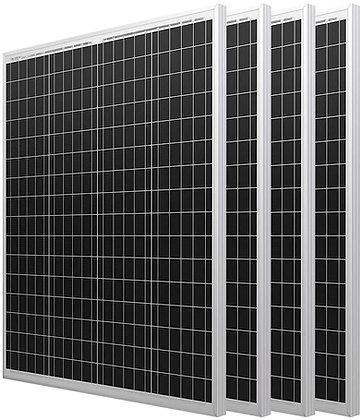 HQST 4 Pack 100 Watt 12 Volt Polycrystalline Solar Panels Or 1 Or 2 Panels