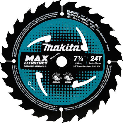 "Makita 7-1/4"" 24T Carbide-Tipped Wood Cutting Blade"