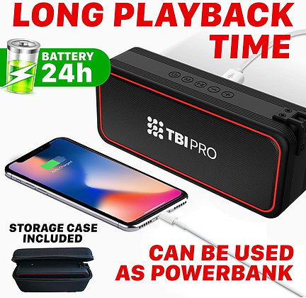 Powerful 20W Bluetooth Portable Speaker - 24 Hours Battery Life