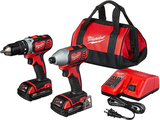 MILWAUKEE'S 18-Volt Compact Drill and Impact Driver Combo Kit
