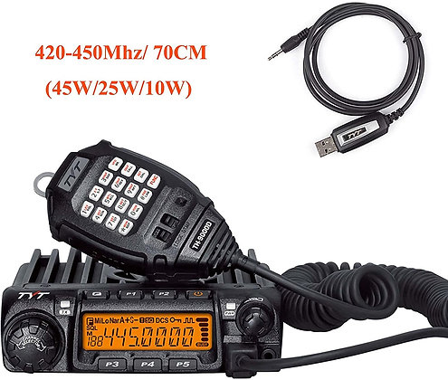 TYT TH-9000D Ham Mobile Transceiver, UHF Radio 420-450Mhz 45W