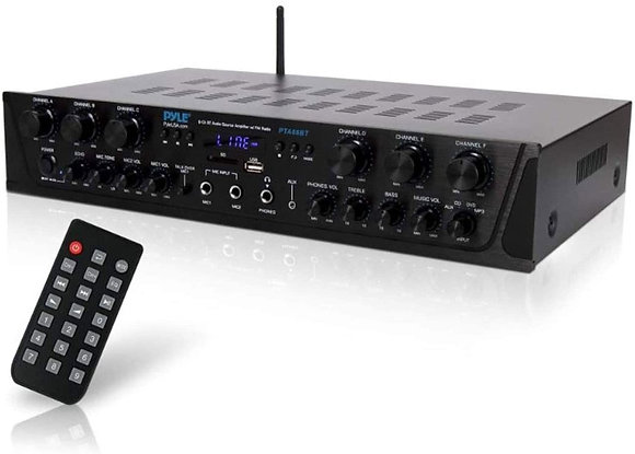 Pyle 600 Watt Wireless Home Audio Amplifier System  With Bluetooth
