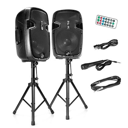 Pyle PA Speaker System Kit - 12'' Subwoofers, Bluetooth