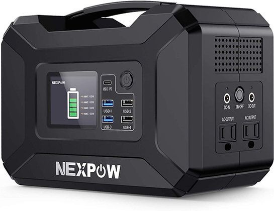 Portable Power Station, 296Wh 80000mAh Solar Generator 110VAC
