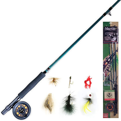 Complete Fly Fishing Kit, 5/6 Rim-Control Fly Reel with Custom Flies