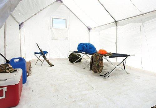 Guide Gear 10x12' Canvas Wall Tent Floor, Heavy-Duty PVC Flooring