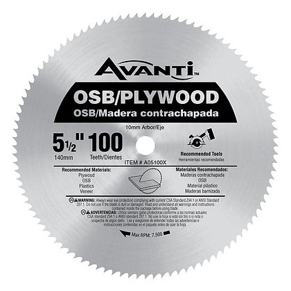 5-1/2 X 100T Plywood, Silver, One Size