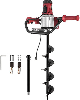 Electric Post Hole Digger, 1500 W 1.6 HP Electric Auger Powerhead