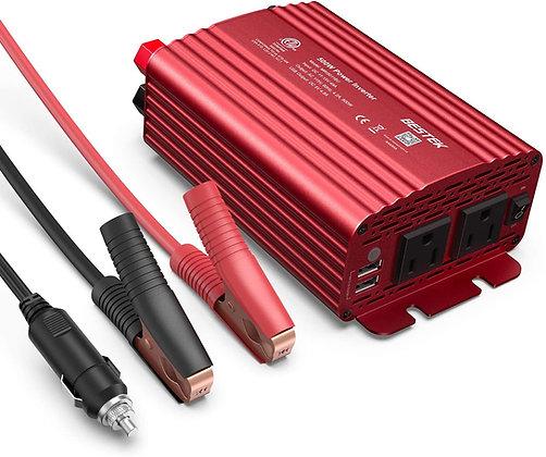 BESTEK 500W Power Inverter 12VDC to 110VAC Converter