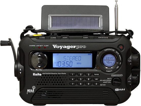Voyager Pro KA600 Digital Solar Hand Crank AM/FM/LW/SW & NOAA Weather Radio
