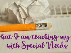 What I am teaching my son with special needs