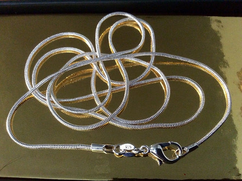 Sterling Silver Long 2mm Snake chain with a lobster catch