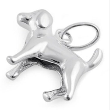 Sterling Silver Cute Dog Pendant on a 1mm Silver Chain