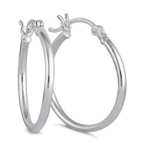 Sterling Silver 20mm x 25mm Hoop Earring