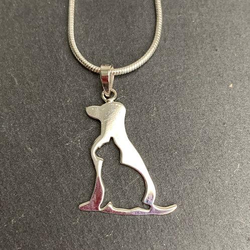 Sterling Silver High Shine Dog Cat Pendant