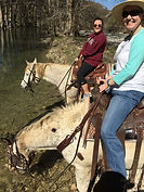 Horseback riding in medina river