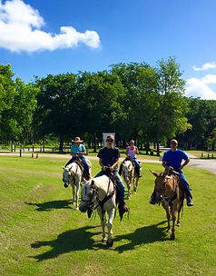 horseback riding Bandera City Park