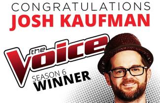 """Josh Kaufman Named Winner of """"The Voice"""" Season 6"""