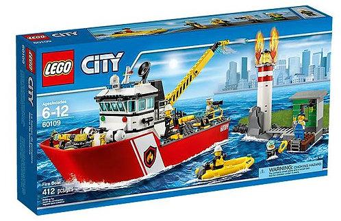 Lego City Пожарный катер