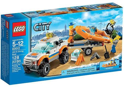 Lego City Береговая охрана и лодка аквалангиста