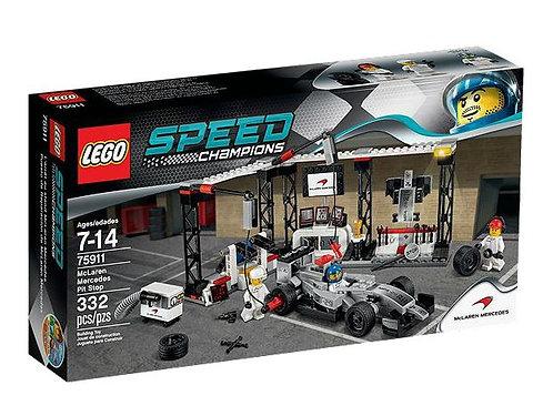 Lego Speed Champions McLaren Mercedes Пит Стоп
