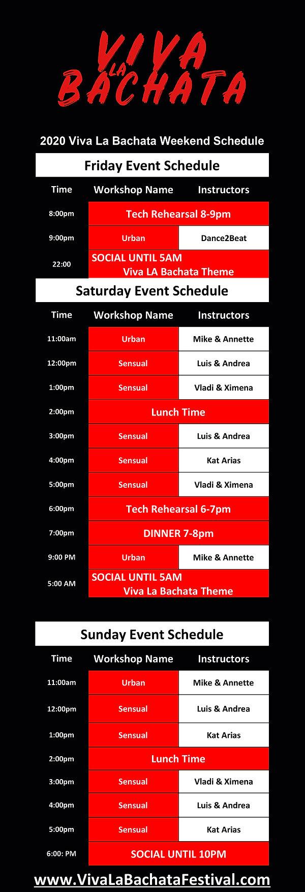 Viva La Bachata Festival - Workshop Sch