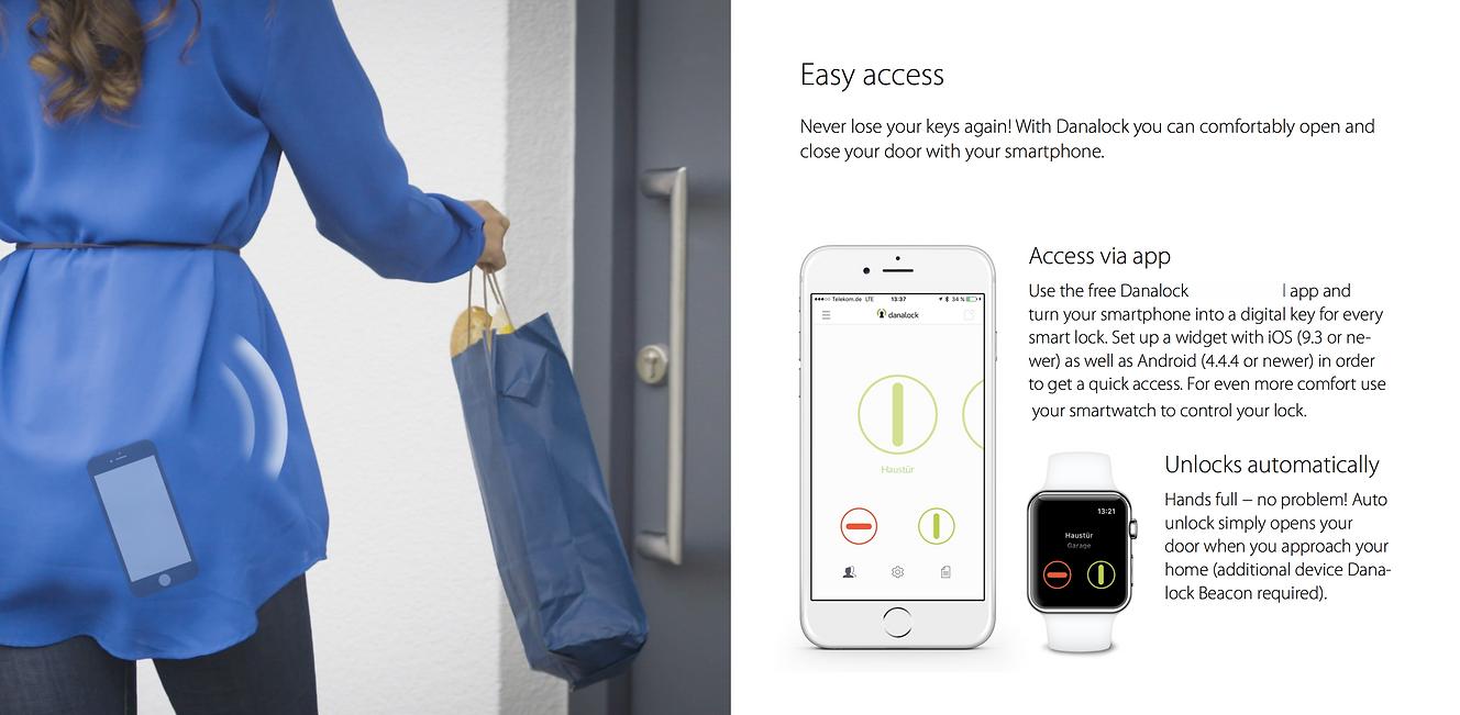 danalock v3 smart lock danalock app smartphone