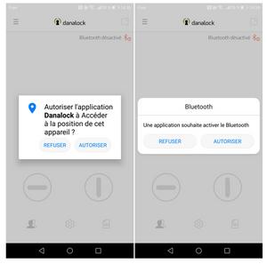 Danalock App autorisations