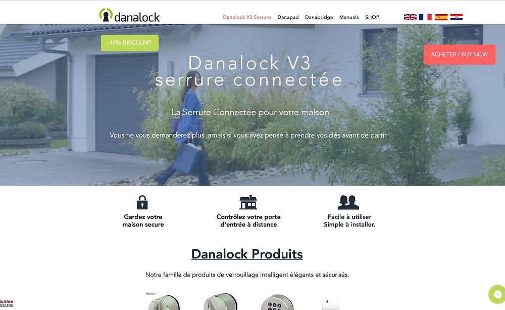 DANALOCK V3 SERRURE CONNECTEE