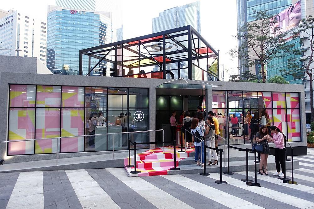 Chanel Pop Up Seoul In Gangnam
