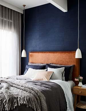 quarto decorado em azul