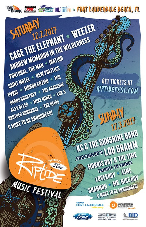 Riptide Music Festival 2017 Line Up Announcement