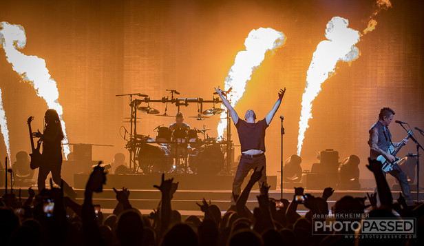 The Evolution Tour in Lincoln, Nebraska featuring Disturbed and Three Days Grace
