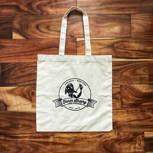 Farm Strong Feed Company Organic Cotton Tote Bag