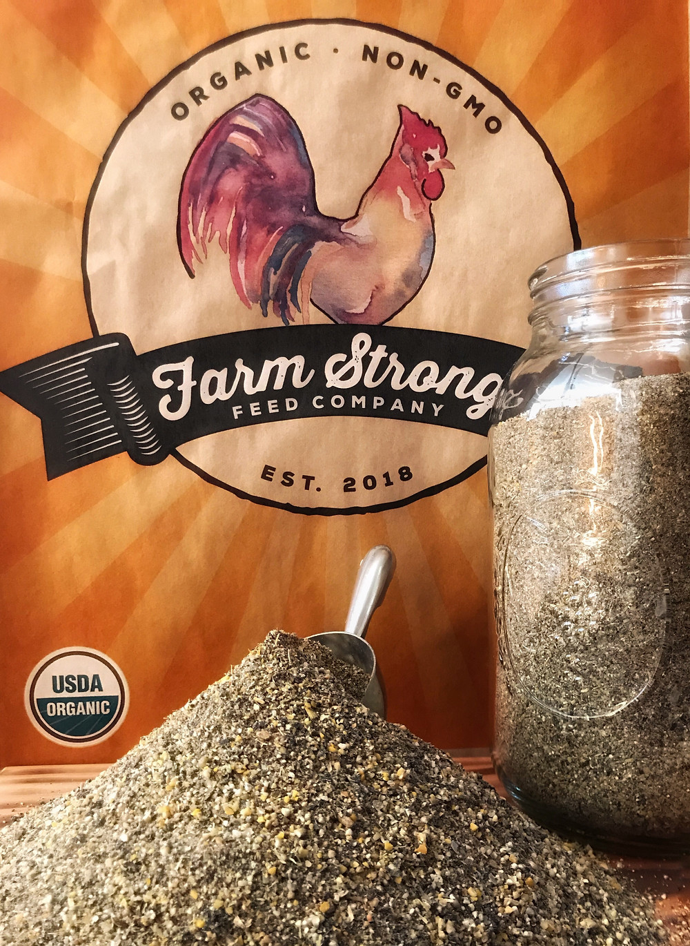 soy free non gmo organic layer chicken feed