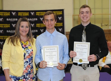 2019 Toni Bergman Scholarship Recipients Named