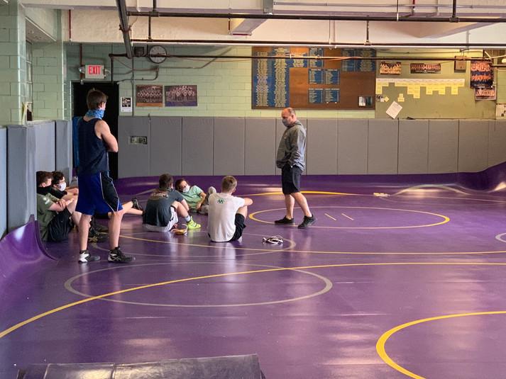 Practice mats for wrestling