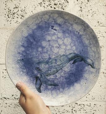 Humpback Whale Plate
