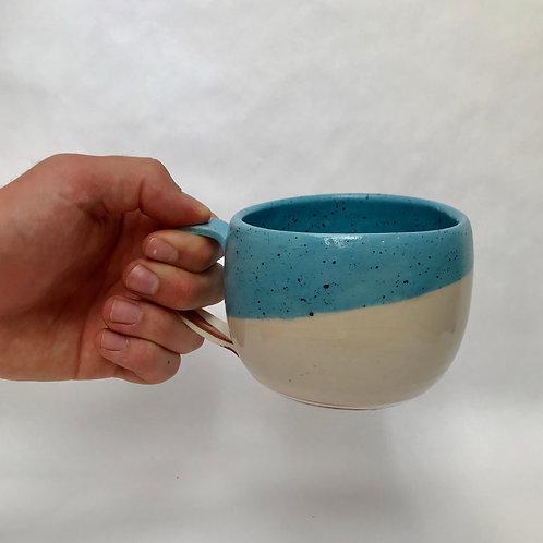 12oz Mixed Clay Blue Mug