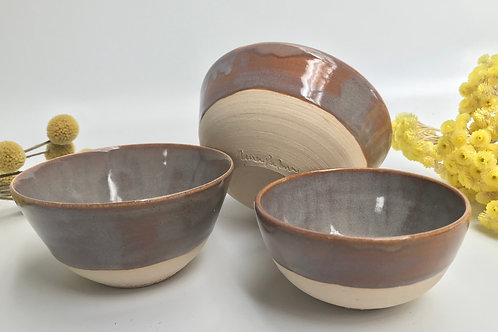 3 Nesting Bowls in a Soft Sepia