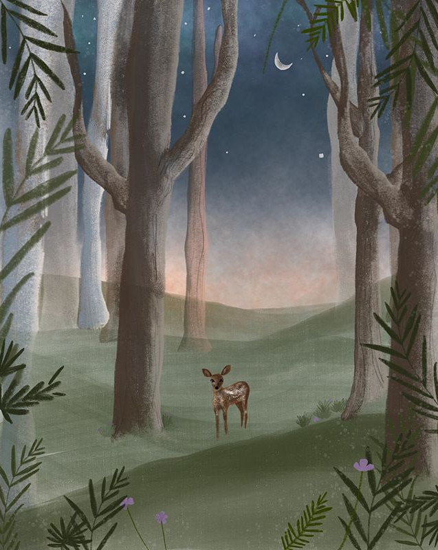 Drawing places I'd rather be...🦌🍃• • •