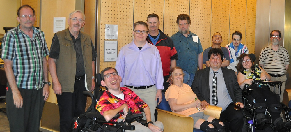 this is a group of leaders trained to advocate for them selfs and others with intulectuial and developmental disabilitys and are inspired to train the leaders of tomarrow