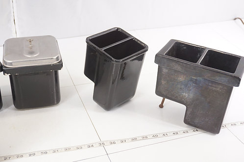 4 Art Deco Soda Fountain Syrup Canisters